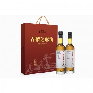 刘氏良承 古槽芝麻油 头道初榨礼盒760ml